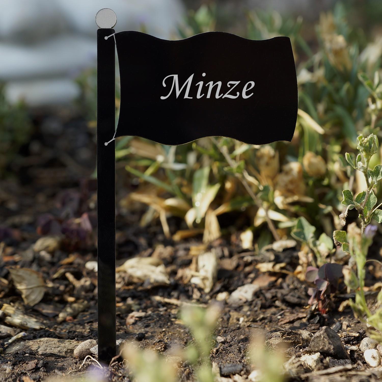 acrylglas pflanzschilder fahne schwarz auswahl wunschname pflanzenstecker ebay. Black Bedroom Furniture Sets. Home Design Ideas