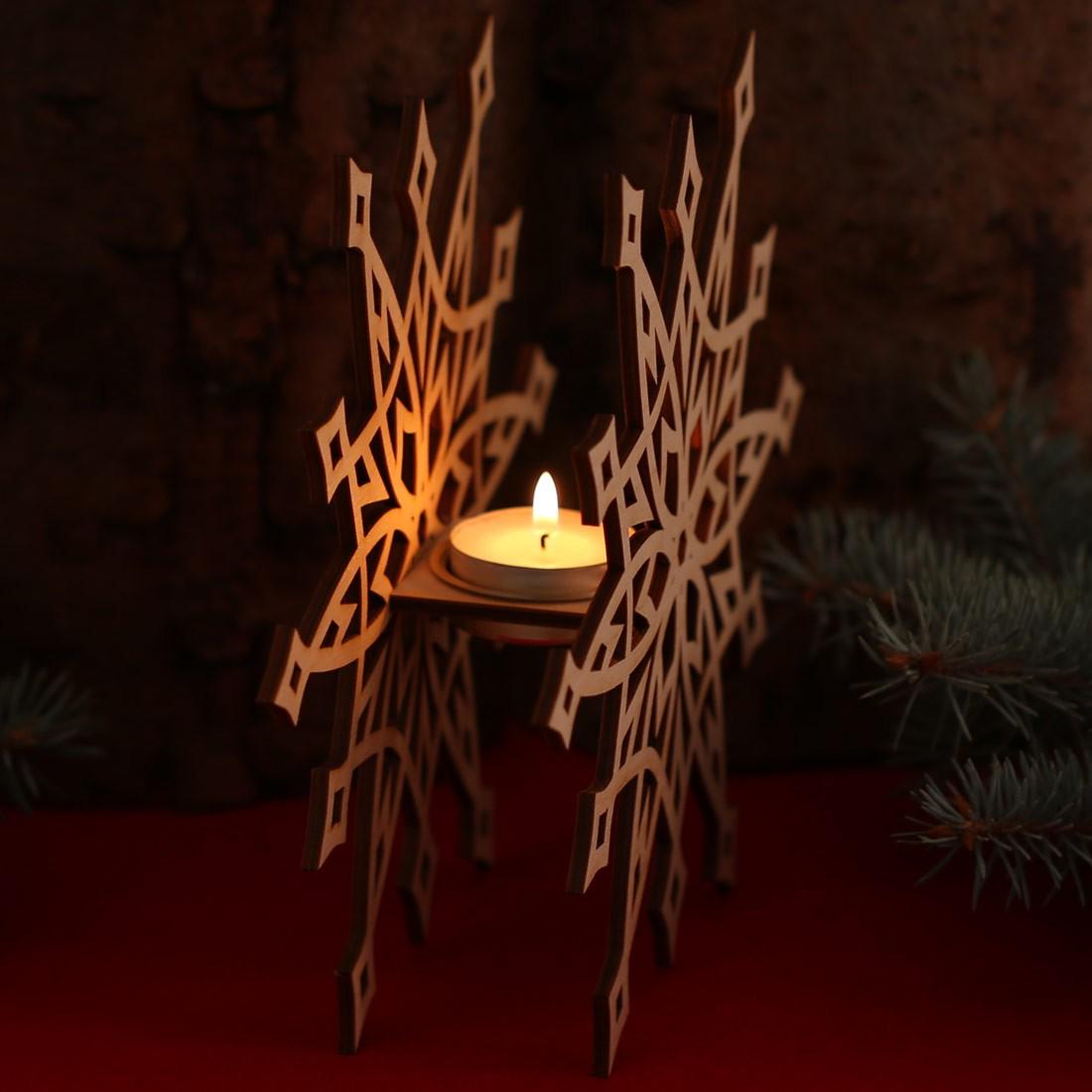stern teelichthalter dekoration aus holz f r weihnachten. Black Bedroom Furniture Sets. Home Design Ideas