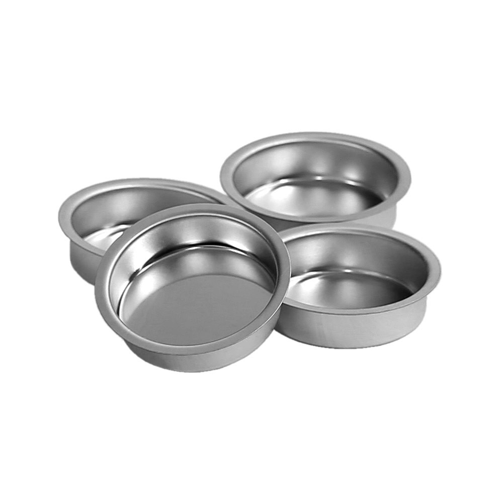 Tealight holder silver 41mm flat tealight cup for for Flat candle holders