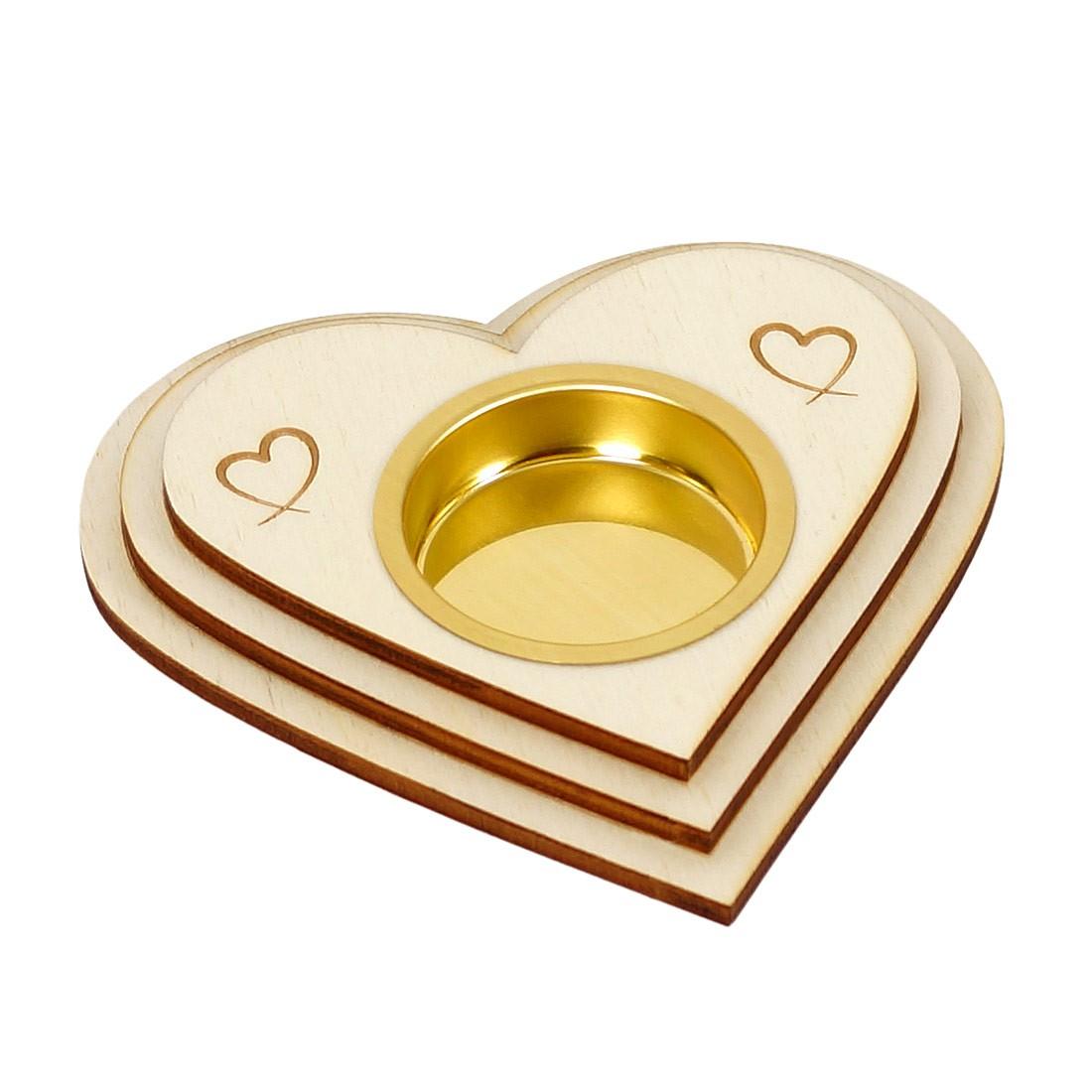 Herz Teelichthalter Liebe Dekoration Aus Holz Optional
